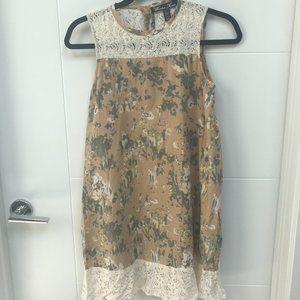 Winter Kate Nicole Richie Lace Detail Mini Dress